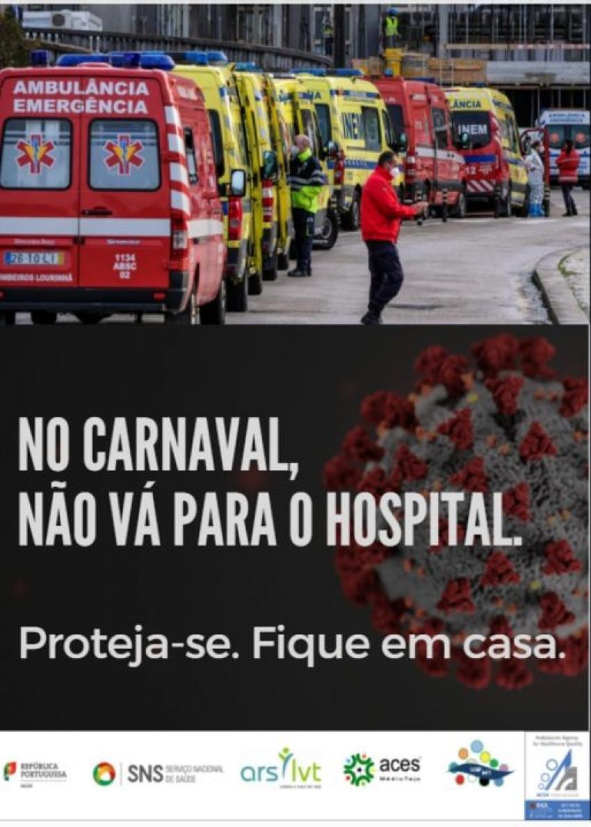Cartaz da campanha da Unidade de Saúde Pública do Médio Tejo
