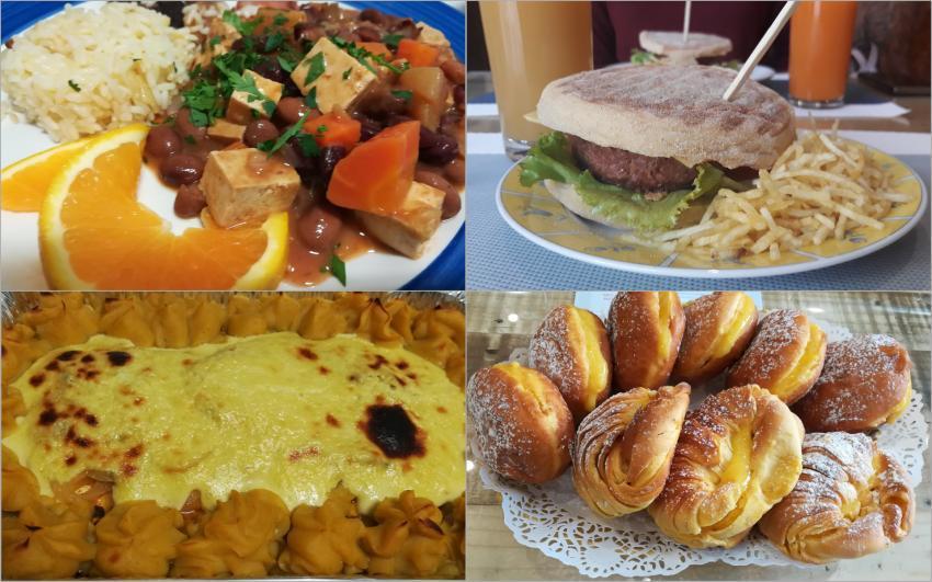 Pratos vegetarianos e vegan e doces vegan (Fotografias de Paula Val e Carolina Ferreira)