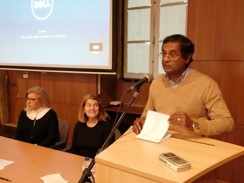 Vincent D'Souza no encerramento da formação da Go Global