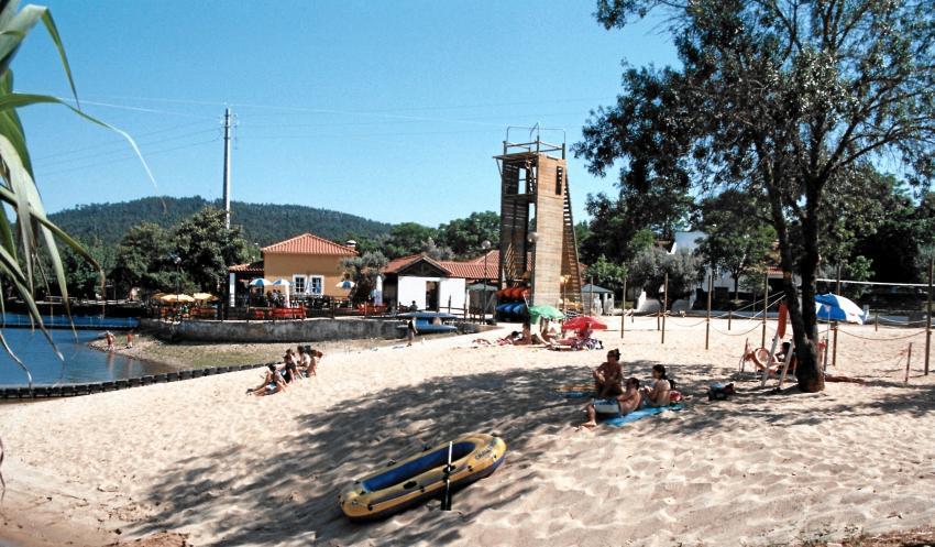 Parque de Campismo é contíguo ao espaço balnear